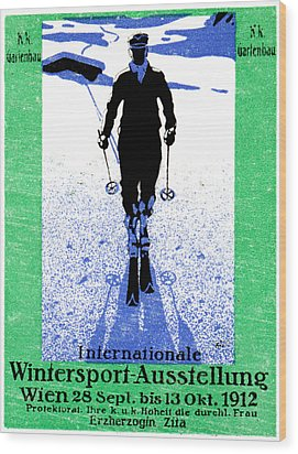 1912 Vienna Winter Sports Wood Print by Historic Image