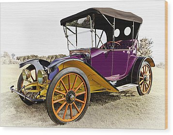 1913 Argo Electric Model B Roadster Wood Print by Marcia Colelli