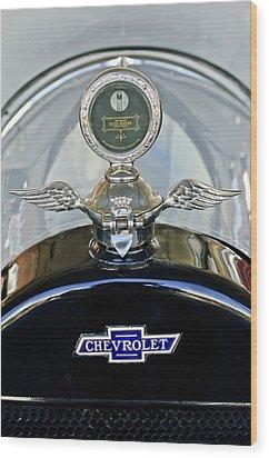 1915 Chevrolet Touring Hood Ornament Wood Print by Jill Reger