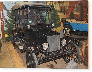 1917 Ford Model T Touring 5d25581 Wood Print by Wingsdomain Art and Photography