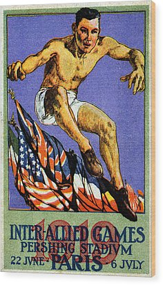 1919 Allied Games Poster Wood Print by Historic Image