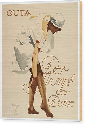 1920 - Guta Stockings Advertisement - Ludwig Hohlwein - Color Wood Print