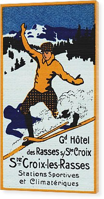 1920 St. Croix Winter Sports Wood Print by Historic Image