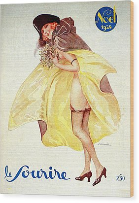 1920s France Le Sourire Magazine Cover Wood Print by The Advertising Archives
