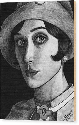 Elizabeth Debiki As Jordan Baker Wood Print by Salman Ravish