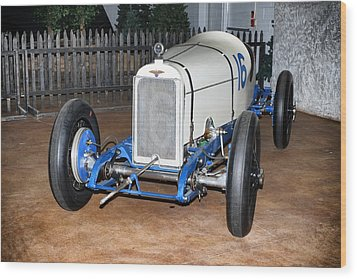 1921 Duesenberg Race Car Wood Print by Boris Mordukhayev