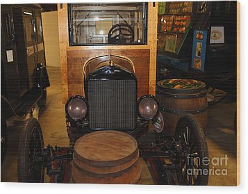 1921 Ford Model T Snowmobile 5d25582 Wood Print by Wingsdomain Art and Photography