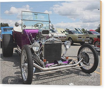 1923 Ford Model T Convertible Roadster Wood Print by John Telfer