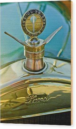 1923 Ford Model T Hood Ornament Wood Print by Jill Reger