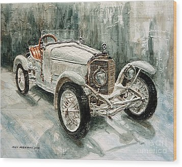 1923 Mercedes Ps Sport- Zweisitzer Wood Print by Joey Agbayani