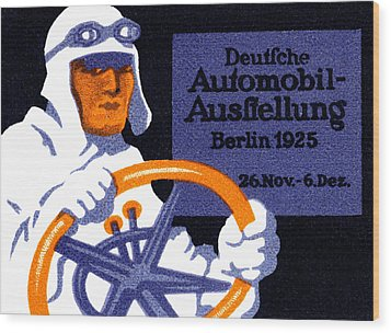 1925 Berlin Car Show Wood Print by Historic Image