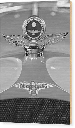 1926 Duesenberg Model A Boyce Motometer 2 Wood Print by Jill Reger