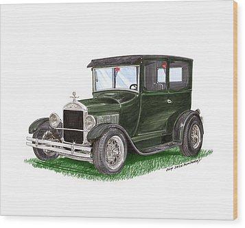 1926 Ford Tudor Sedan Street Rod Wood Print by Jack Pumphrey