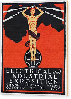 1926 New York City Electrical Industrial Exposition Wood Print