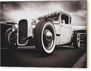 1928 A Coupe Wood Print by Phil 'motography' Clark
