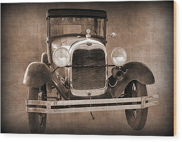 1928 Ford Model A Coupe Wood Print
