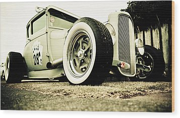 1928 Ford Model A Hot Rod Wood Print by Phil 'motography' Clark