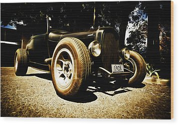 1928 Ford Model A Rod Wood Print by Phil 'motography' Clark