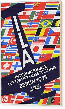 1928 International Air Show Wood Print by Historic Image