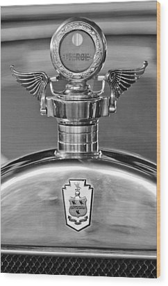 1928 Pierce-arrow Hood Ornament 2 Wood Print by Jill Reger