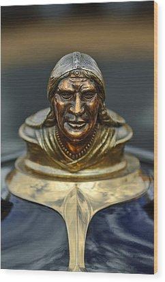 1928 Pontiac Hood Ornament  Wood Print by Jill Reger