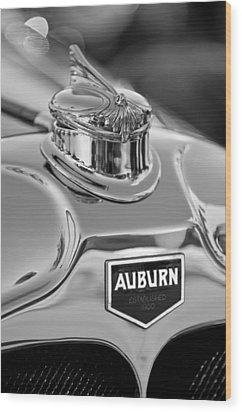 1929 Auburn 8-90 Speedster Hood Ornament 2 Wood Print by Jill Reger