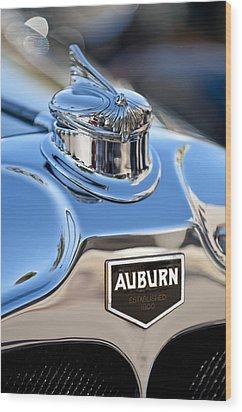 1929 Auburn 8-90 Speedster Hood Ornament Wood Print by Jill Reger