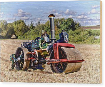 1929 Aveling Roller  Wood Print by Paul Gulliver