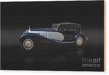 1929 Bugatti Type 41 Royale Wood Print by Roger Lighterness