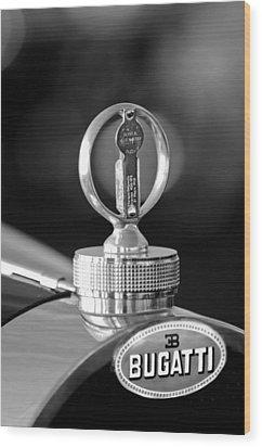 1930 Bugatti Hood Ornament Wood Print by Jill Reger