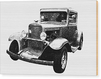 1930 Chevy Wood Print by Guy Whiteley