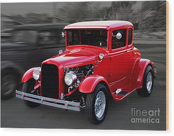 1930 Ford Model A Coupe Wood Print