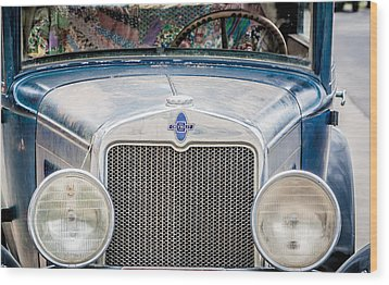 Wood Print featuring the photograph 1930's Chevy Headlights by Dawn Romine