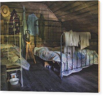 1930's Country Bedroom  Wood Print