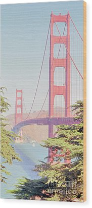 Wood Print featuring the photograph 1930s Golden Gate by Nigel Fletcher-Jones