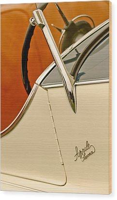 1931 Alfa Romeo 6c 1750 Gran Sport Aprile Spider Corsa Steering Wheel Wood Print by Jill Reger