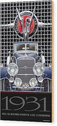 1931 Cadillac V-16 Phaeton Wood Print