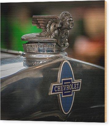 1931 Chevrolet Emblem Wood Print by Paul Freidlund