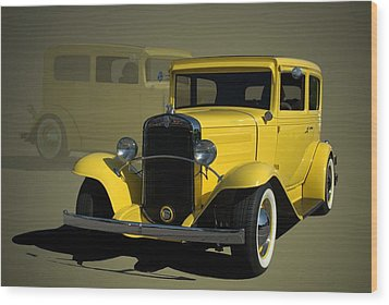 1931 Chevrolet Sedan Hot Rod Wood Print by Tim McCullough