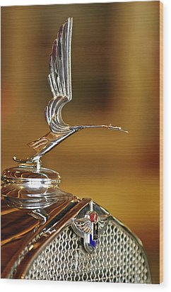 1931 Lasalle Hood Ornament Wood Print by Jill Reger