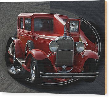 Wood Print featuring the pyrography 1932 Chevrolet by B Wayne Mullins