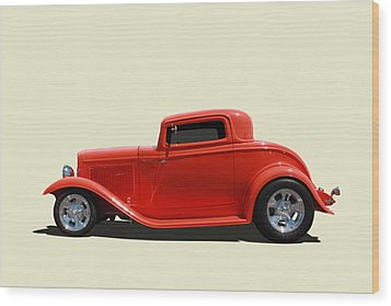 Wood Print featuring the photograph 1932 Ford 3 Window Coupe by Keith Hawley