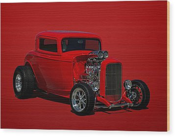 1932 Ford 3 Window Hot Rod Wood Print by Tim McCullough