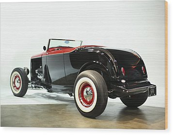 Wood Print featuring the photograph 1932 Ford Deuce Roadster by Gianfranco Weiss