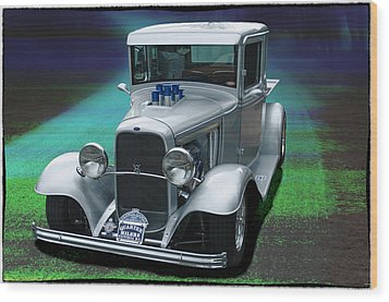 Wood Print featuring the digital art 1932 Ford Pickup by Richard Farrington