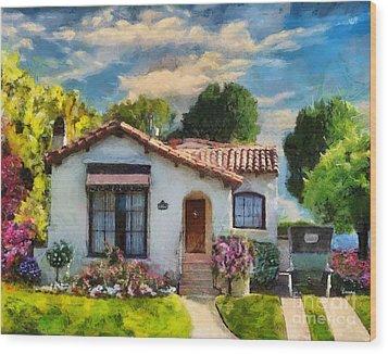 Alameda 1932  Spanish Beauty Wood Print by Linda Weinstock