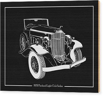 1932 Packard Light Eight Wood Print by Jack Pumphrey