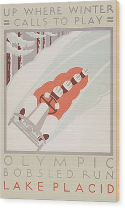 1932 Winter Olympics Wood Print by American Classic Art