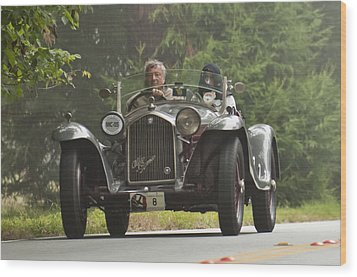 1933 Alfa Romeo 8c Corto Touring Spyder Wood Print by Jill Reger