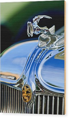 1933 Chrysler Imperial Hood Ornament 3 Wood Print by Jill Reger